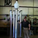 Custom aluminum lamp posts